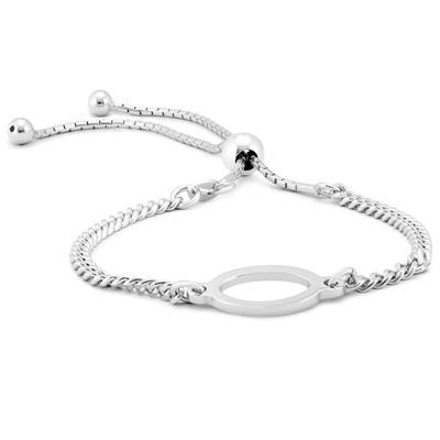 Infinity Oval Loop Bolo Bracelet in .925 Sterling Silver