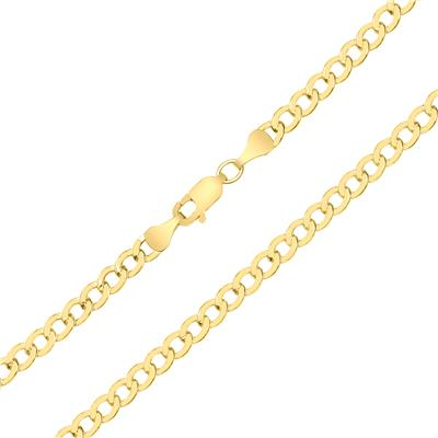 14K Yellow Gold Filled 4.1MM Curb Link Bracelet with Lobster Clasp