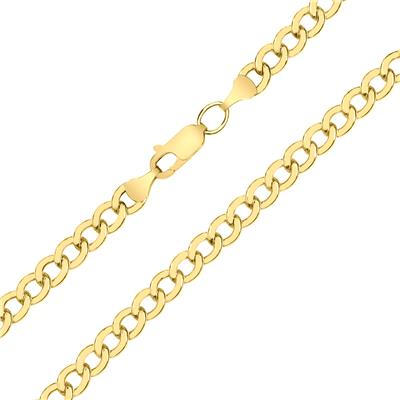 14K Yellow Gold Filled 4.9MM Curb Link Bracelet with Lobster Clasp