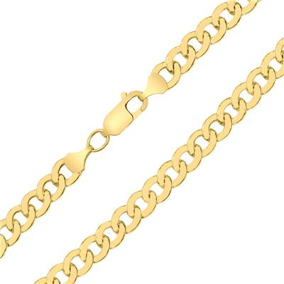 14K Yellow Gold Filled 5.8MM Curb Link Bracelet with Lobster Clasp