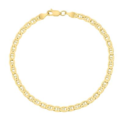 14K Yellow Gold Filled 4.2MM Mariner Link Chain Bracelet with Lobster Clasp