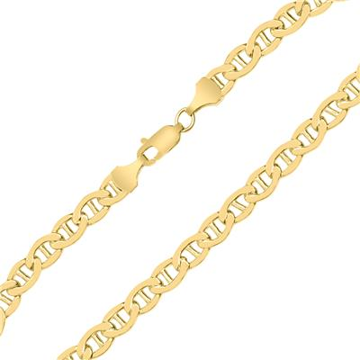 14K Yellow Gold Filled 4.9MM Mariner Link Chain Bracelet with Lobster Clasp