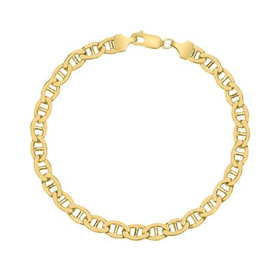 14K Yellow Gold Filled 5.6MM Mariner Link Chain Bracelet with Lobster Clasp