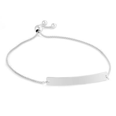 Name Plate Bolo Bracelet in .925 Sterling Silver