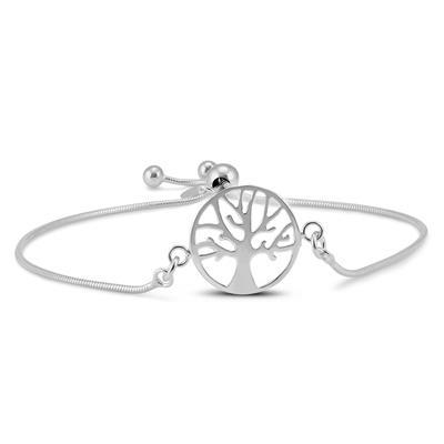 Tree Of Life Bolo Bracelet In .925 Sterling Silver
