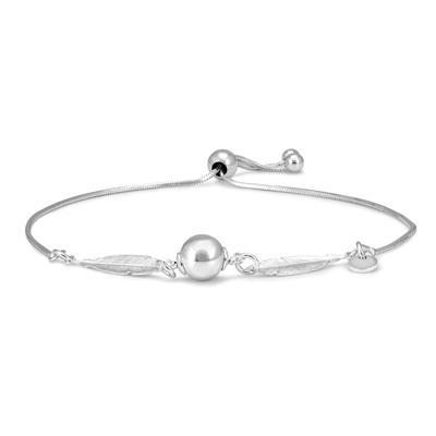 Adjustable Leaf Bolo Bracelet in .925 Sterling Silver