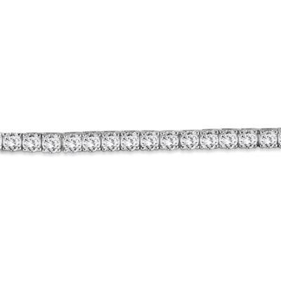 PREMIUM QUALITY 10 Carat TW Diamond Bracelet 18K White Gold (E-F Color, SI1-SI2 Clarity)