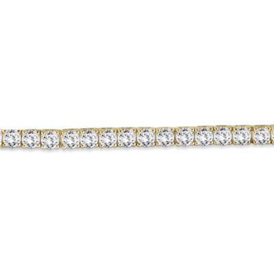 PREMIUM QUALITY 10 Carat TW Diamond Bracelet 18K Yellow Gold (E-F Color, SI1-SI2 Clarity)