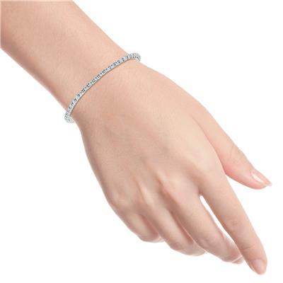 1 Carat TW Diamond Tennis Bracelet in 14K White Gold