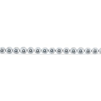 AGS Certified 7 Carat TW Classic Diamond Tennis Bracelet in 14K White Gold