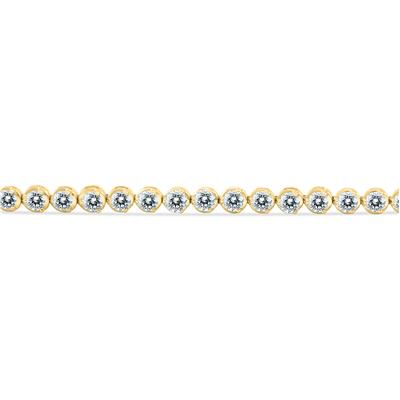 AGS Certified 7 Carat TW Classic Diamond Tennis Bracelet in 14K Yellow Gold