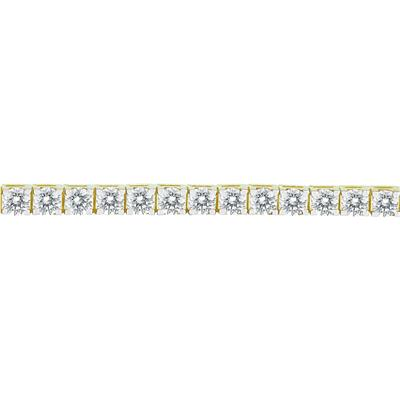 AGS Certified 11 Carat TW Classic Diamond Tennis Line Bracelet in 14K Yellow Gold