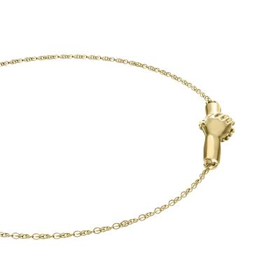 Ted Poley Miss Your Touch Hand in Hand Bracelet in 10K Yellow Gold