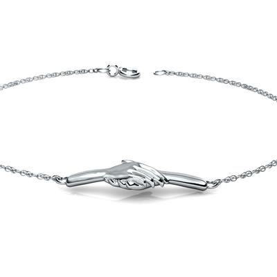 Ted Poley Miss Your Touch Hand in Hand Bracelet in .925 Sterling Silver