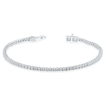 2 Carat TW Diamond Tennis Bracelet in 14K White Gold