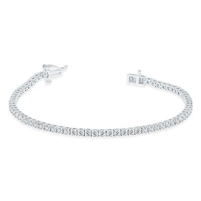 3 Carat TW Diamond Tennis Bracelet in 14K White Gold