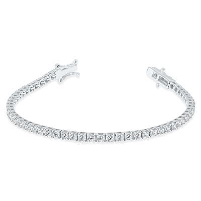 5 Carat TW Diamond Tennis Bracelet in 14K White Gold