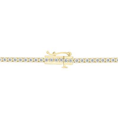 2 Carat TW Diamond Tennis Bracelet in 14K Yellow Gold