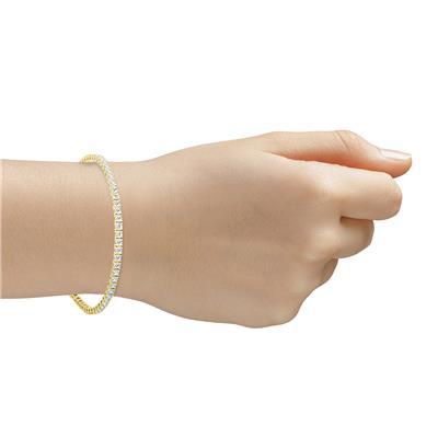 5 Carat TW Diamond Tennis Bracelet in 14K Yellow Gold