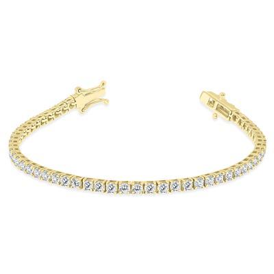 6 Carat TW Diamond Tennis Bracelet in 14K Yellow Gold