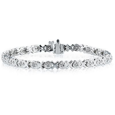 1/4 Carat Diamond Bracelet in 14K White Gold