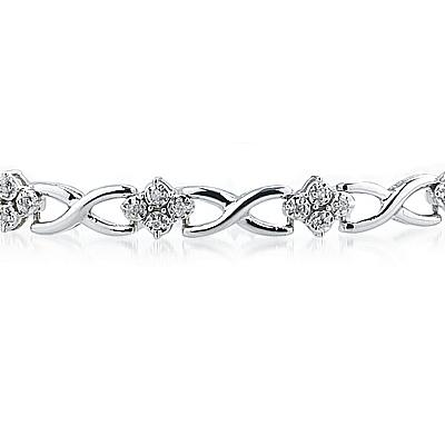 1/4 Carat TW Diamond Bracelet in 14K White Gold