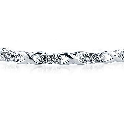 1/4 Carat TW Diamond Link Bracelet in 10K White Gold