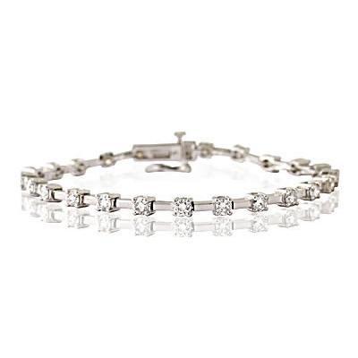 3 Carat TW Diamond Bracelet in 14K White Gold