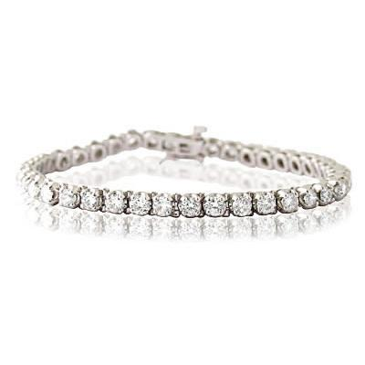 6.00CTW Classic Diamond Tennis Bracelet in 14K White Gold