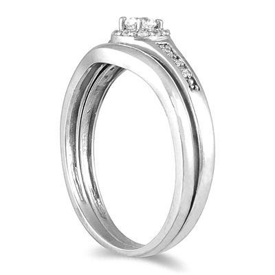 1/4 Carat TW Diamond Bridal Set in 10K White Gold