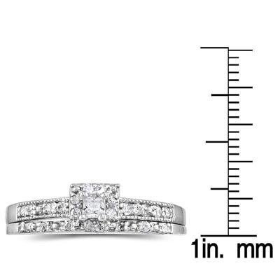 1/3 CTW Princess Diamond Bridal Set in 10K White Gold