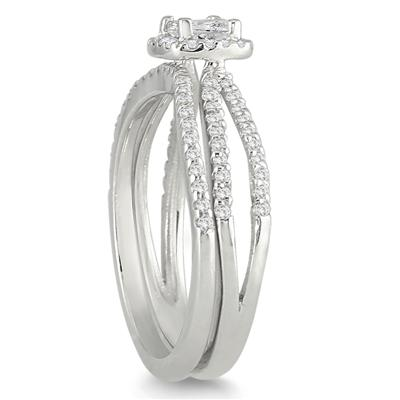 5/8 Carat TW Diamond Bridal Set in 10K White Gold