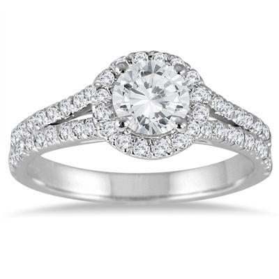 1 1/2 Carat TW Diamond Bridal Set in 14K White Gold