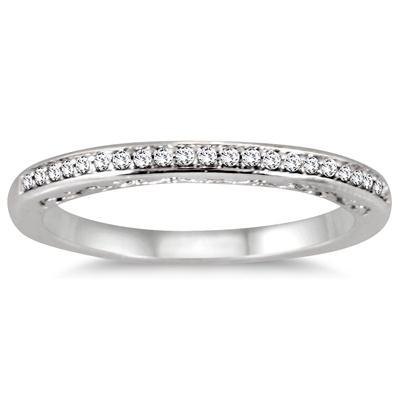7/8 Carat TW Diamond Antique Engraved Halo Bridal Set in 14K White Gold