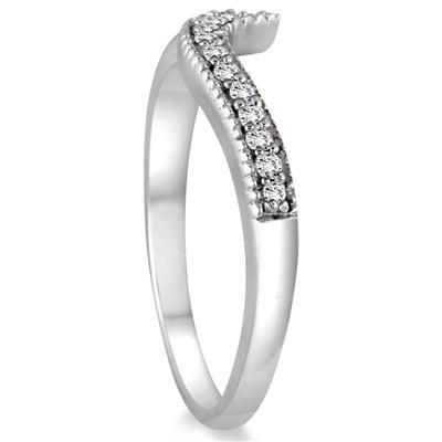 1/3 Carat TW Cluster Diamond Bridal Set in 10K White Gold