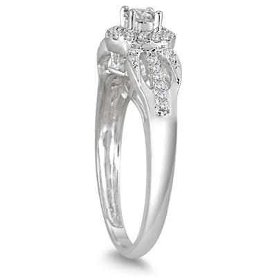 1/2 Carat TW Antique Diamond Bridal Set in 10K White Gold (K-L Color, I2-I3 Clarity)