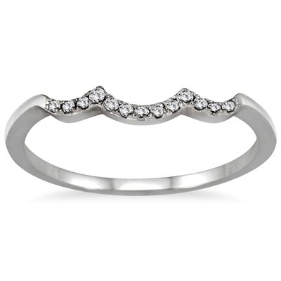 1/2 Carat TW Three Stone Diamond Cluster Bridal Set in 10K White Gold