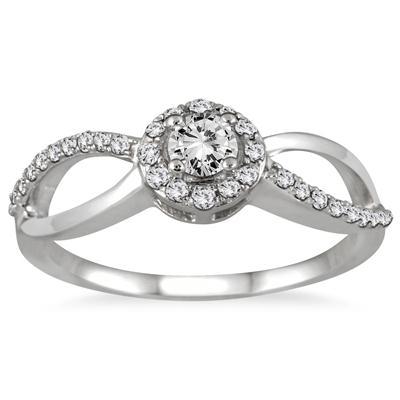 1/2 Carat TW Diamond Open Infinity Bridal Set in 10K White Gold