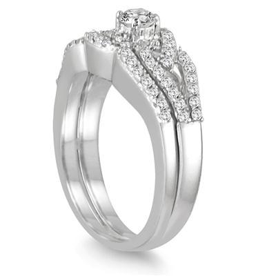 Diamond Bridal Set in 10K White Gold