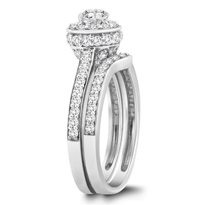 Fine Rings 1.59 Ct Round Diamond Ring Channel Set Si2 14 Kt White Gold Size 5.5 6.5 7 9 Clearance Price Diamond