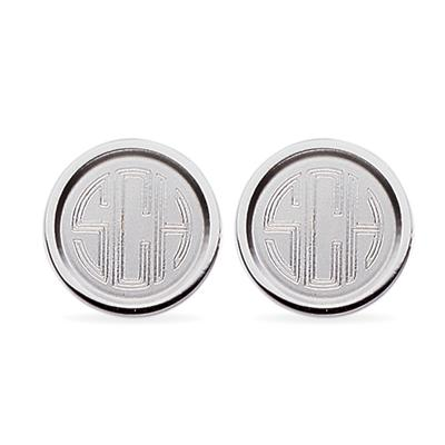 23k Rhodium Electroplated Cuff Links