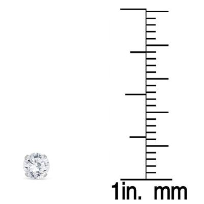 1/2 Carat TW Round Solitaire Diamond Stud Earrings in .925 Sterling Silver