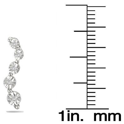 Diamond Journey Earrings in .925 Sterling Silver