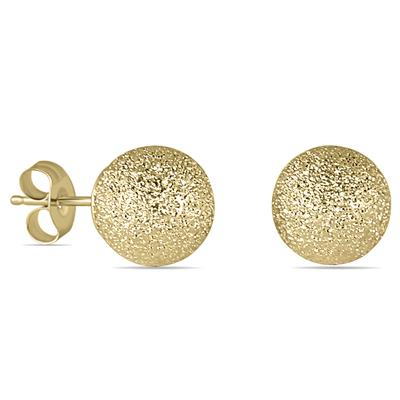 coral solid products yellow earrings mm ball italian red stud gold com