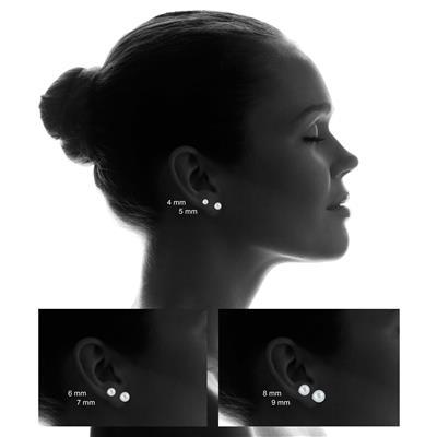 10K White Gold 5mm Ball Stud Earrings