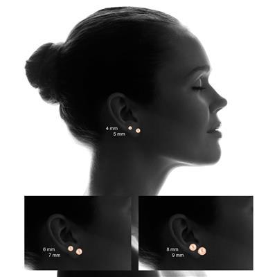 10K Rose Gold 5mm Ball Stud Earrings