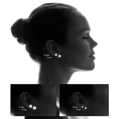 10K White Gold 6mm Ball Stud Earrings