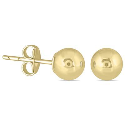 10K Yellow Gold 4mm Ball Stud Earrings
