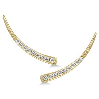 1/5 Carat TW Diamond Earrings Set in 14K Yellow Gold