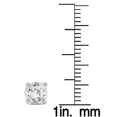 1 1/2 Carat TW Diamond Solitaire Stud Earrings in 14K White Gold (K-L Color, I2-I3 Clarity)